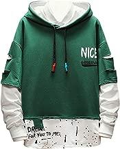 iLOOSKR Winter Hooded Sweatshirt Men Plus Size Splicing Button Pullover Long Sleeve Sweatshirt