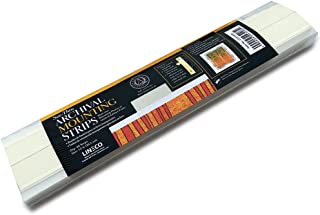 Lineco See-Thru Polyester Mounting Strips, 12 inches, Package of 60 (L533-4020), Clear,