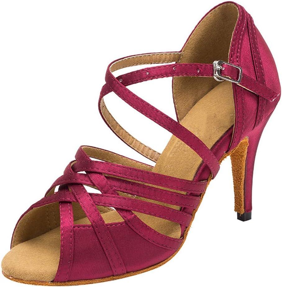 Lefuyan Women's Latin Dance Shoes, Women Latin Salsa Practice Dancer Shoes Professional Ballroom Salsa Practice Performance,34