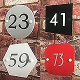 DSD Supplies ltd, targhetta personalizzata in acrilico con numero civico, effetto vetro moderno