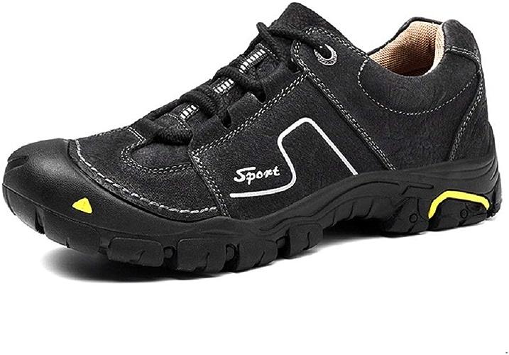 Fuxitoggo Chaussures de randonnée en Plein air pour Hommes Wading Chaussures antidérapantes (Couleuré   Noir, Taille   EU 44)