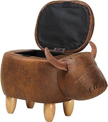 Amazon Com Bella E Ottomal Cow Ottoman With Storage