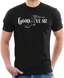 Goodyear Svart och vit logotyp t-shirt för män