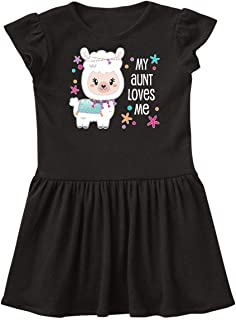 inktastic My Aunt Loves Me- Cute and Happy Llama Infant Dress