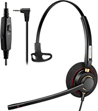 $23 » Phone Headset 2.5mm with Noise Canceling Mic & Mute Switch Telephone Headset for Panasonic AT&T Vtech Uniden Cisco Grandst...