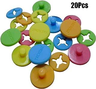 Jingyi E-commerce 20 Pcs Running Bib Clips Fixing System Race Number Buckle Marathon Number Buckle Fasteners/Holders, Random Color