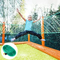 Turn your Trampoline into a Water Park - This package includes a 39ft trampoline sprinkler pipe, a faucet connector, a water leakage-proof ring and 20 pcs cable ties. A cool trampoline sprinkler is perfect for giving your families tons of fun! Safe a...