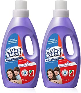 Maxkleen 1L Twin Pack Anti Bacterial Liquid Detergent (Daily Wear)