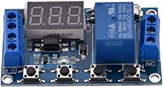 DC 6V~30V Multifunction Trigger Delay Time Module Switch Control Relay Cycle Timer Digit LED Display Micro USB 5V