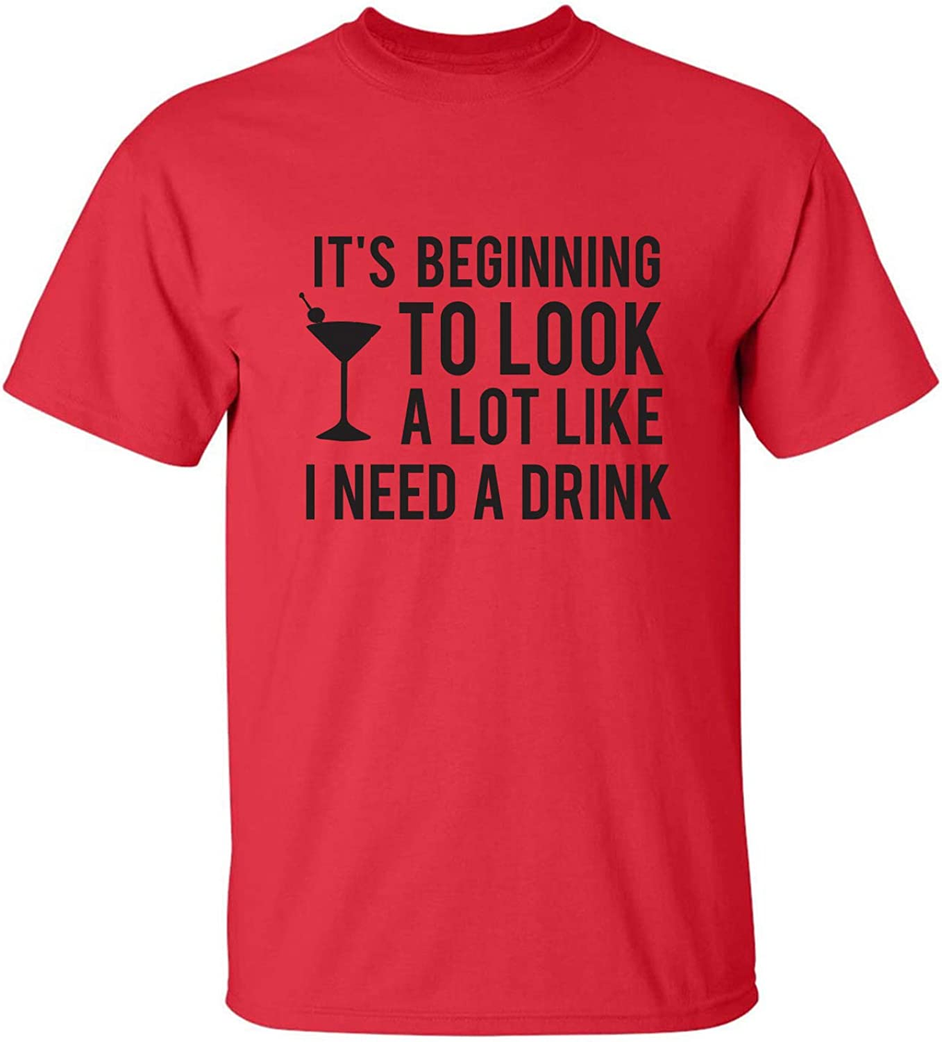 It's Beginning to Look A Lot Like Adult T-Shirt in Red - XXXX-Large
