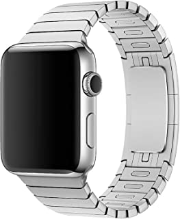 Stainless Steel Band Strap With Screen Protector For 42Mm Apple Watch