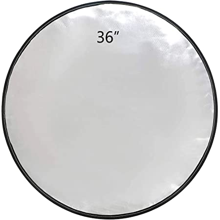 """Fire Pit Mat,TOOCN.E 36""""Round Fireproof Mat,Portable Fire Pit Pad Protect Your Deck,Grass, Lawn,Ground,Camp,Patio,for Outdoor Gas,Wood Burning chiminea,breeo,Grill BBQ Pit (36 inch)"""