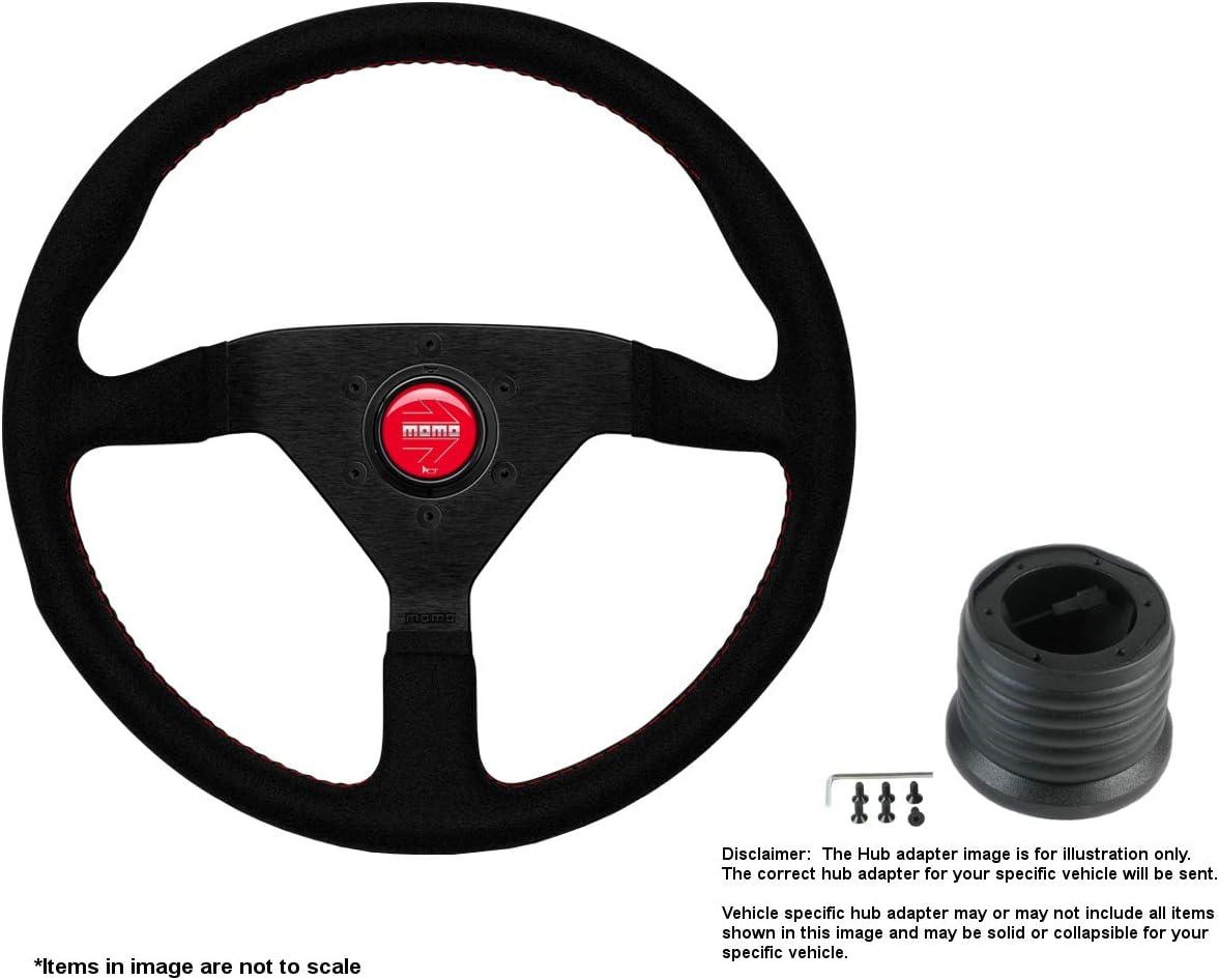 MOMO Montecarlo Miami Mall 350mm 13.78 Memphis Mall Inches Alcantara Steering w Wheel