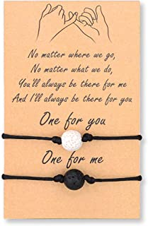 BOCHOI Relationship Distance Promise Matching Wish String Bracelets for Couples Mom Daughter Best Friend Teens Boy Girls Sisters Women Men