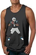 Men's Sleeveless Tank Top Shirts Blue Carolina Newton Throwing Cotton Gym Vest Casual Sport T-Shirts