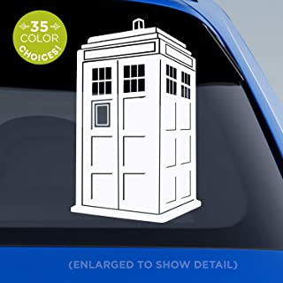 Doctor Who TARDIS decal - 3D blue police box Tardis sticker - Dr. Who decal for Car windows, mugs, glasses, walls Vinyl Sticker - Made with outdoor vinyl