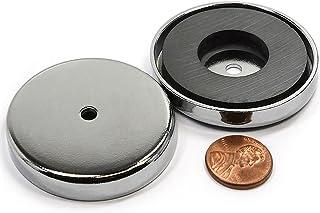 مغناطيس كأس قوي من CMS ماغنيتيكس 45.3 كجم سحب قوة المغناطيس في قطر كبير 8.1 سم / وعاء مغناطيس فتحة غاطسة RB80 3 قطع