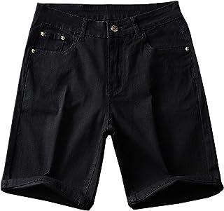 Pantalones Cortos de Jeans para Hombre, Delgados de Cinco Puntos, elásticos, Bordados, Color sólido, Todos los tamaños de ...