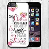 for iPod Touch Case,iPod 6 Black Case, FTFCASE Case TPU Rubber Gel Design for Apple iPod Touch 6th Generation - Christian Quote Proverbs 31:25/ Flowers