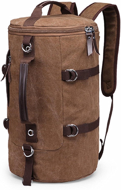 JIE KE Outdoor-Rucksack, Reiserucksack-Pack, Ruckscke Canvas Outdoor-Camping-Reisen mit dem Walking Shoulder Bucket Bag Multifunction gelten für einen Sportfan