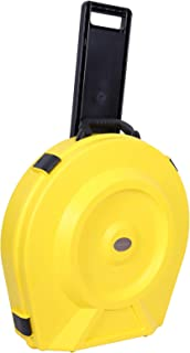 Crossrock Rolling Case, Injection PE Cymbal Vault with Wheels in Yellow, Fits up to 20