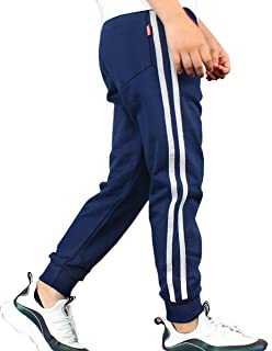 LittleXin Kids Boys' Girls' Casual Elastic Waist Sports Pants Age 5-13 Years