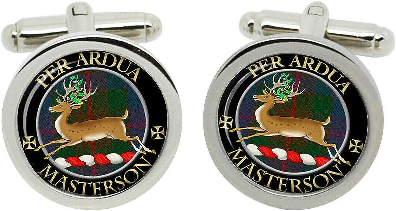 Max 51% OFF Scottish Clan Surname Masterson Tucson Mall Crest with Box Gift Cufflinks