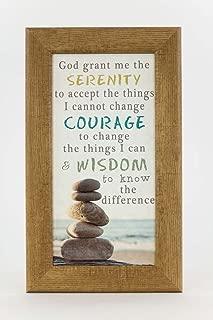 Summer Snow God Grant Me The Serenity Prayer Beach Ocean Sea Rocks Decor Framed Art Picture 13x22