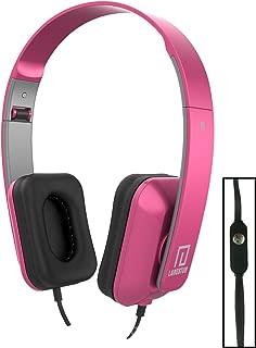 Langston ® Vodafone Smart Prime 6 Smartphone 5 Inch Rosa Deep Bass Plegable HD Auriculares (iM-8) con Micrófono y Mando