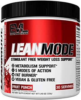 Evlution Nutrition Lean Mode Stimulant-Free Weight Loss Supplement with Garcinia Cambogia, CLA and Green Tea Leaf Extract,...