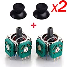 Yoogeer 2X Replacement 3D Sensor 3D Joystick and Thumb Stick for Playstation4 PS4 Controller with 2X Thumb Stick