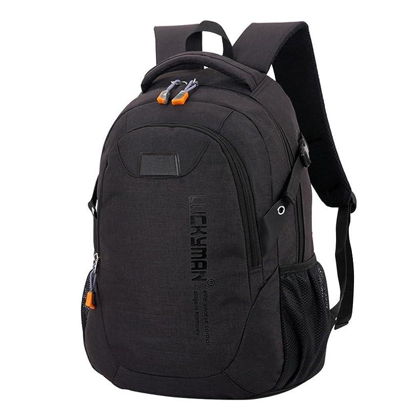 Clearance! Nevera Canvas Travel Backpacks Unisex Laptop Designer Student Bags (black)