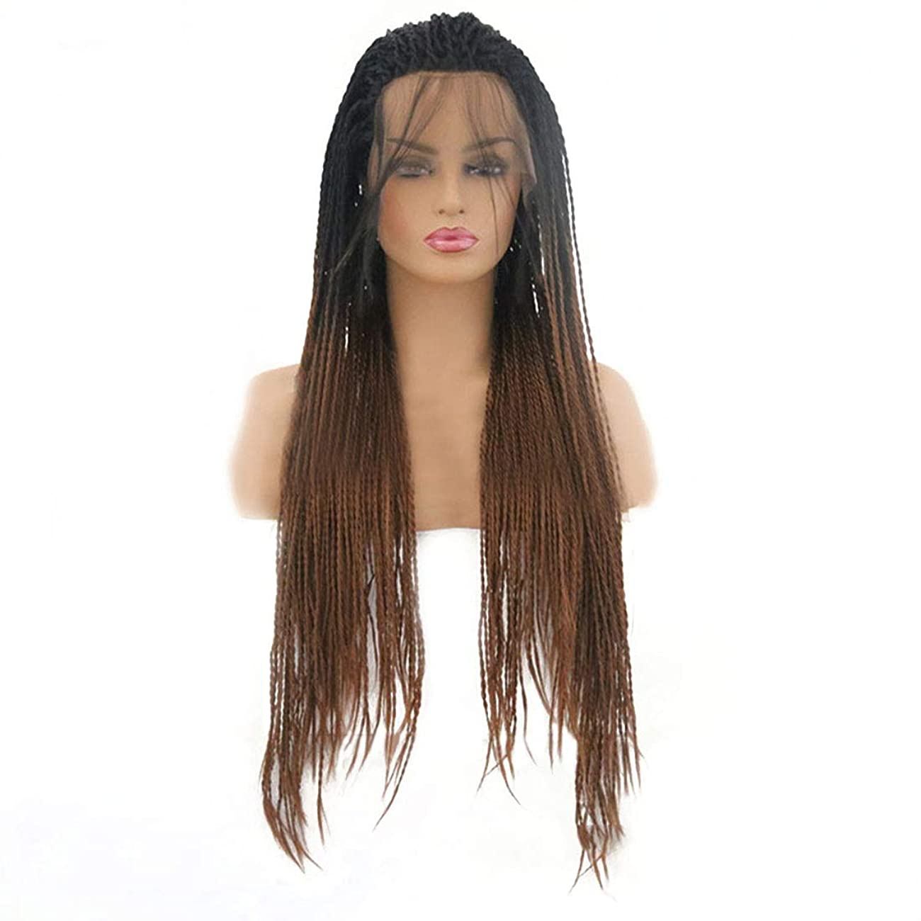 比べる二金額BOBIDYEE Tカラーロングストレートヘアグラデーションカラースモールダーティウィッグフロントレースウィッグ複合ヘアレースウィッグロールプレイングウィッグ (色 : Photo Color, サイズ : 22 inches)