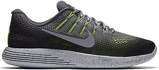 Nike Mens Lunarglide 8 Shield, DARK GREY/METALLIC SILVER-BLACK-VOLT, 10.5 M US