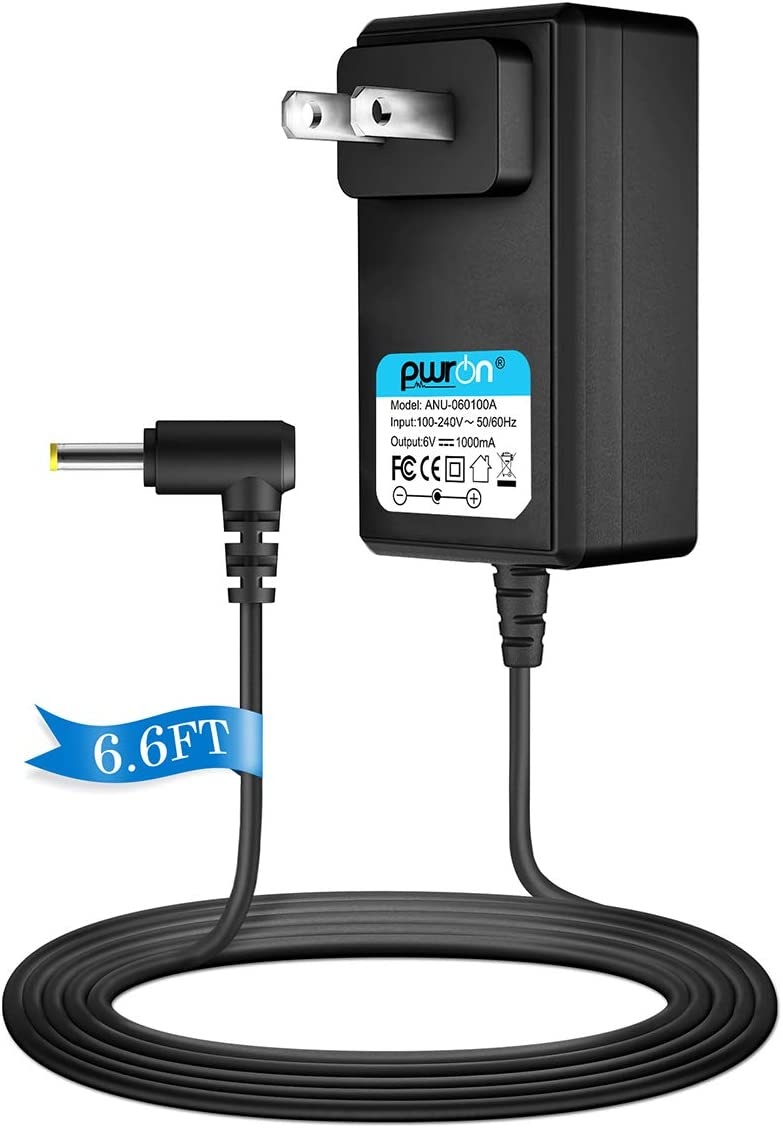 PwrON 6V AC DC Adapter for Vtech Safe & Sound Baby Monitor DM221 DM221-2 DM223 DM251 (Parent & Baby Units) and DM111 DM222 DM271 (Parent Unit Only) Replacement Power Supply Cord
