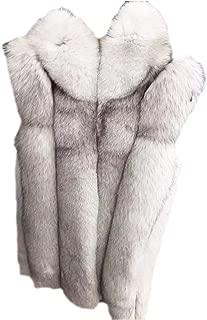 Dawwoti Women's Faux Fur Long Overcoat Wool Long Sleeve Fuzzy Hoodie Sweater Cape for Christmas Party