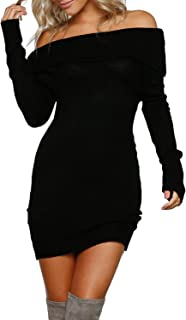 Best sweater dress off shoulder Reviews