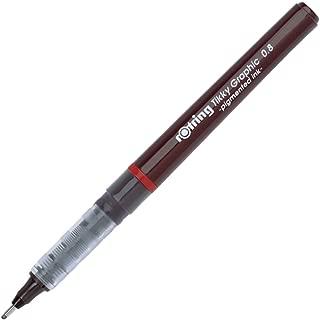 Rotring Tikky Fine Liner Fiber Tip Graphic Pen, 0.8 mm, Black Ink (1904758)