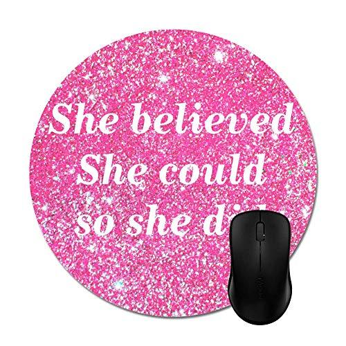 N\A Girly Hot Pink Glitter Sparkles Alfombrilla de ratón Accesorios de Escritorio para computadora
