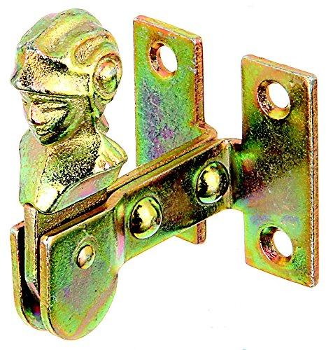 GAH-Alberts 314842 Fensterladen-Feststeller, Frauenkopf, zum Anschrauben, galvanisch gelb verzinkt, 35 mm / 47 x 42 mm