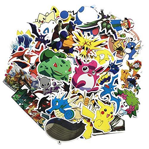 Qemsele Aufkleber für Kinder Kleinkinder, 100+ Pcs Stück Kinderaufkleber 3D Superheld Sticker für Erwachsene Mädchen Jungen, für Laptop-Skateboard-Gepäck-Aufkleber Graffiti-Patches-Aufkleber (Pikachu)