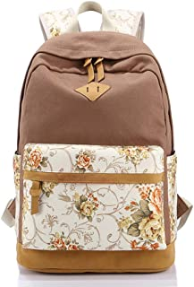 XHHWZB Backpack - Color Diverse Student Bag, Canvas Women's College Wind Backpack