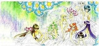 ASDFGH Alfombrilla de Ratón Gaming Mouse Pad Grande tapete de Raton Bastante Teclado Soldado Sailor Moon Cafe Estera del J...