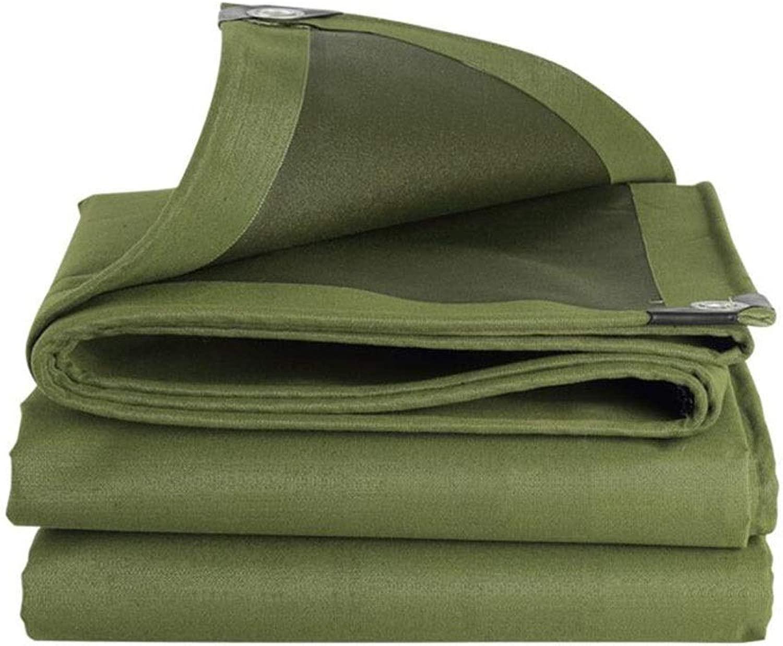DALL ターポリン 600g / M 2 キャンバスを厚く 防雨生地 日焼け止め 防水 アウトドア 金属製のボタンホール 丈夫な (Color : 緑, Size : 5×8m)