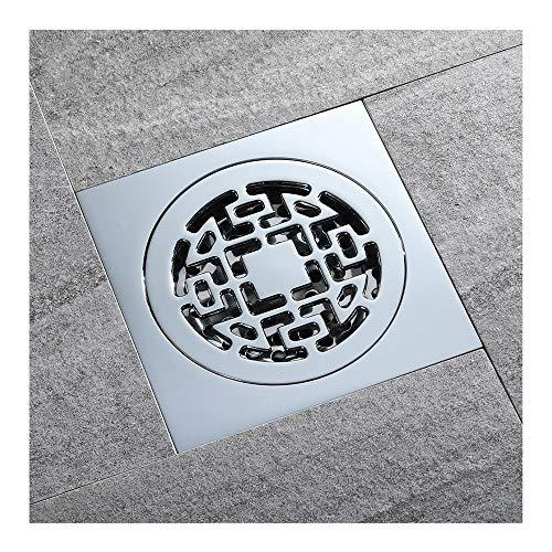 Handheld Baño cuadrado de latón Tipo de desodorización de desagüe en el piso común Baño Ducha con baño de cromo for escurridor familiar Para el baño