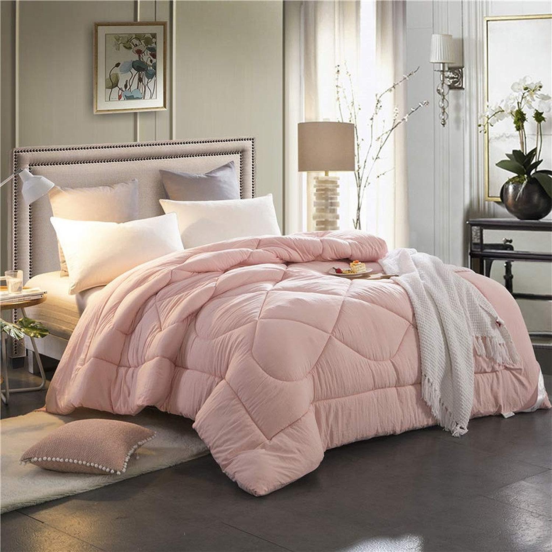 Yxsd couettes d'hiver en Coton Chaud et épais, Couette d'étudiant en Coton lavé, Couette Simple dans Un dortoir (Couleur   rose, Taille   180x220cm-2.5kg)