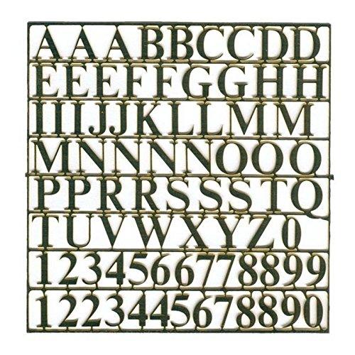 Buchstabensatz 10 mm Messing