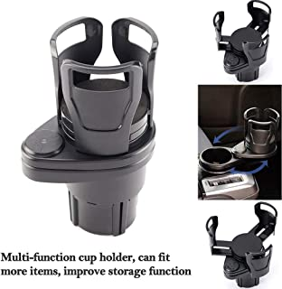 2 in 1 Multifunctional 2 Cup Holder,Car Cup Holder Expander Adapter,Mount Extender with 360° Rotating Adjustable Base to H...