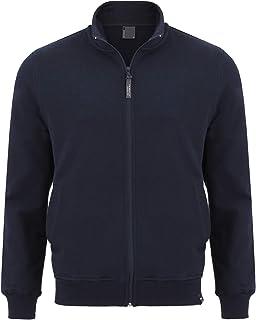 Imako® - Felpa da uomo con cerniera Blu scuro L