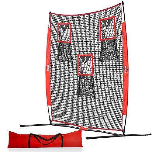 Kapler Football Training Net,6 X 6 FT Football Throw Net with 3 Targets Zone,Passing Net Football Accuracy Training Outdoor